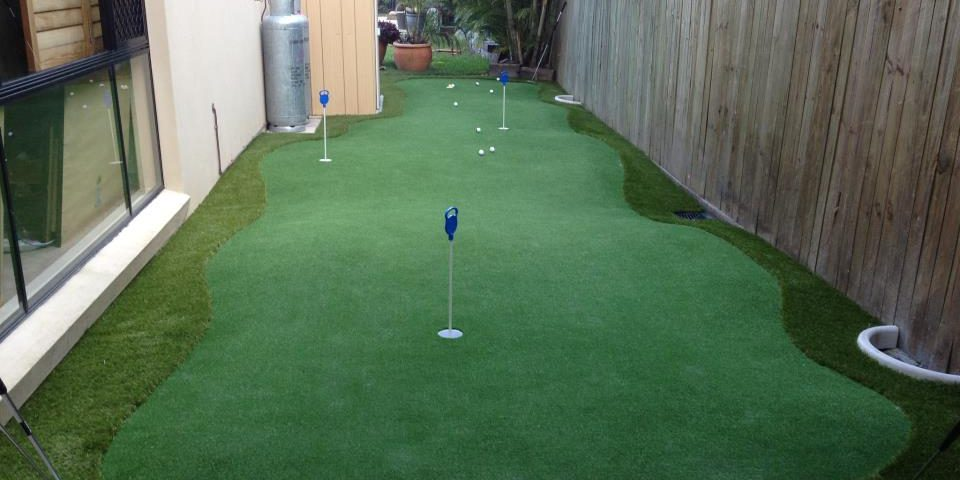 ... Putting Green In Backyard
