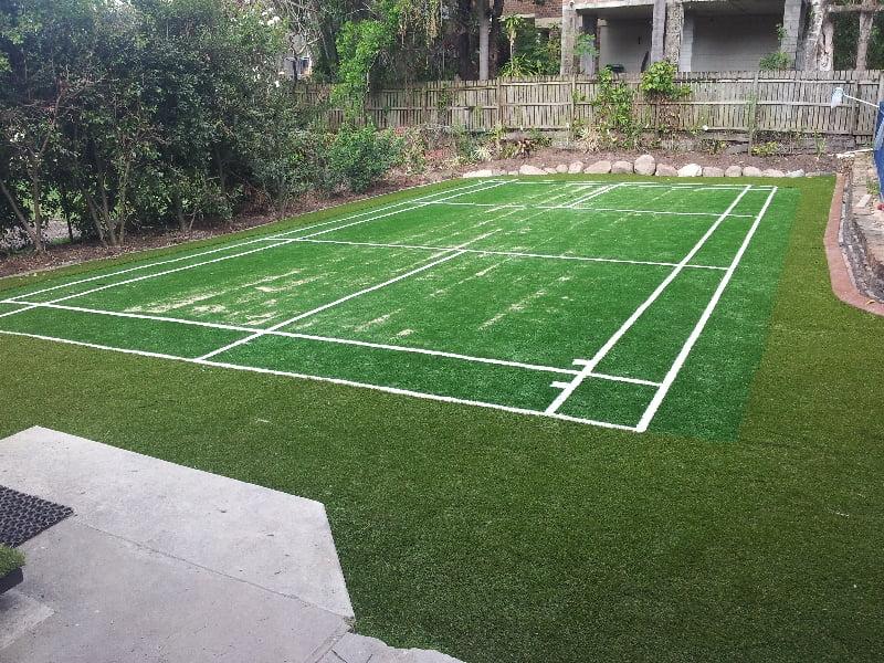Grass Tennis Court In Backyard : Artificial Grass Tennis Court  Turf Green