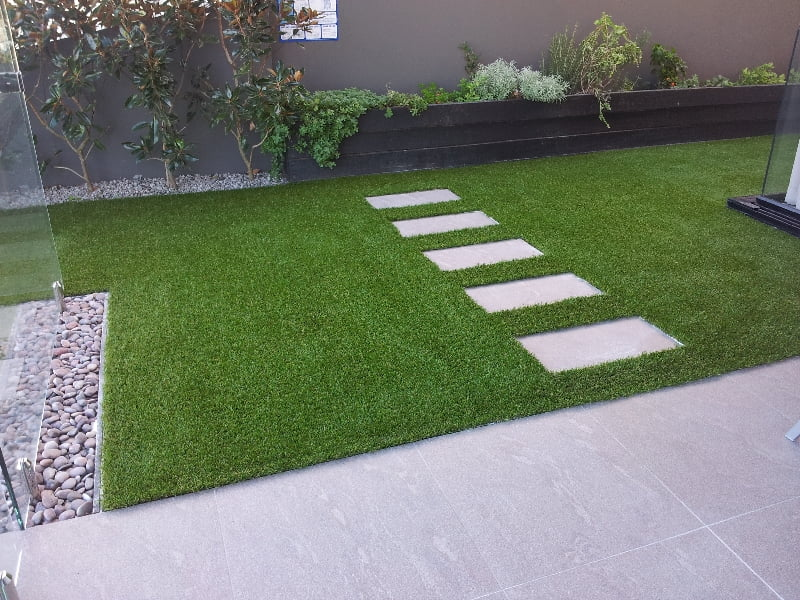 Patio Designs Pavers Grass : Pavers and artificial grass turf brisbane landscaping